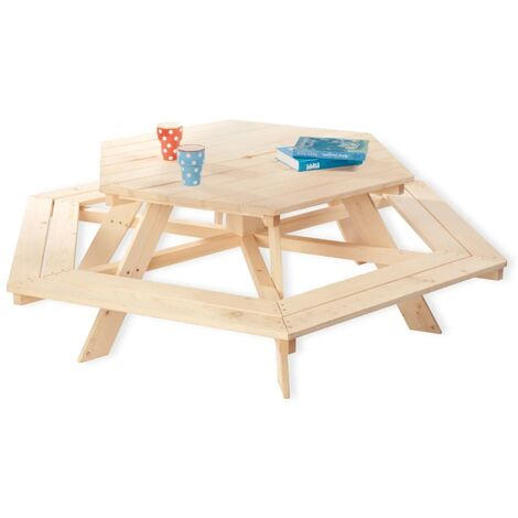 Pinolino Kids Table and Bench Set Nicki 6-Eck