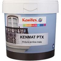 Pintura acrílica mate KENMAT PTX color Blanco, 5 Lt