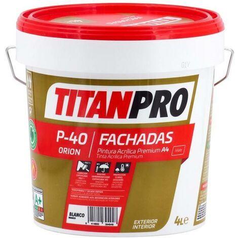 Pintura acrílica Premium A4 Blanco P40 Titan Pro