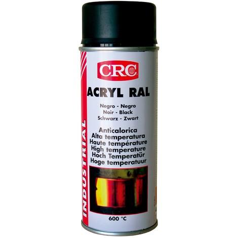 Pintura Aer Acr. Negro Brillo - CRC - RAL 9005 - 400 ML