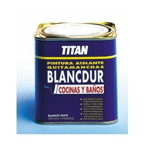 Pintura Aislante Quitamancha 750 Ml Blanco Mate Cocina/Baño