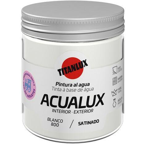 Pintura al agua Acualux Colores Blancos Titanlux   800-Blanco - 75 mL