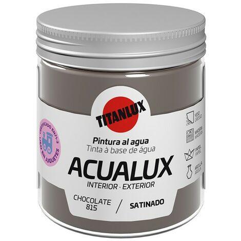 Pintura al agua Acualux Colores Pardos Titanlux   815-Chocolate - 75 mL
