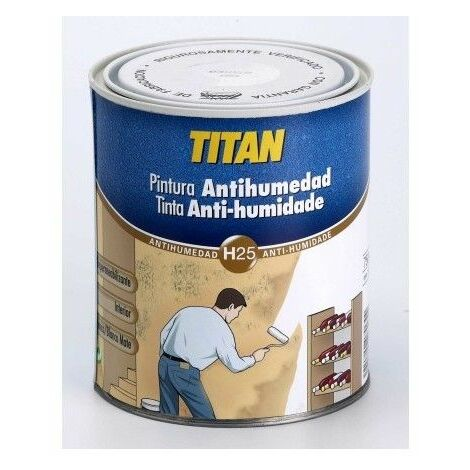 Pintura Antihumedad 750 Ml Blanco Al Disolvente Titan