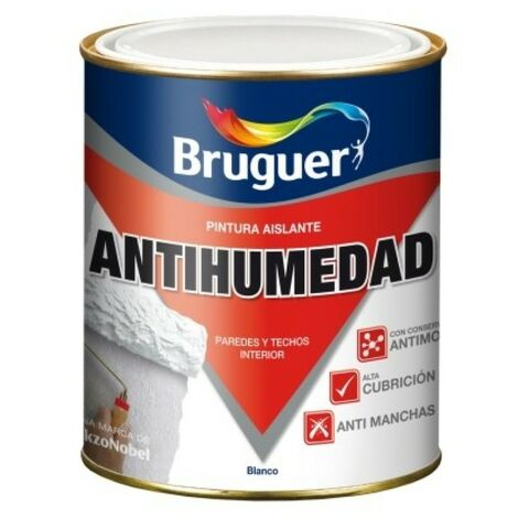 Pintura antihumedad mate 750 ml bl sintetica bruguer