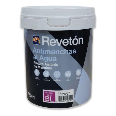 PINTURA ANTIMANCHAS AL AGUA REVETON 750 ML