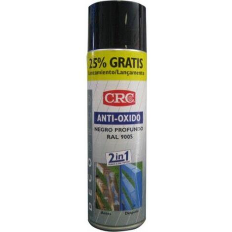 Pintura Antioxidante 500 Ml Ral 9005 Zincado+Negro Spray Crc