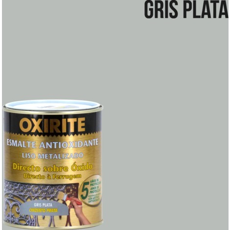 Pintura antioxidante liso metalizado 750 ml Oxirite