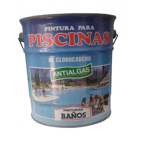 PINTURA AZUL Piscinas al Clorocaucho con ANTIALGAS. 4 Lt. (5 Kg.)