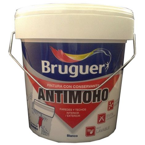 Pintura Bruguer antimoho blanca 4 lt