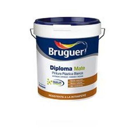 PINTURA BRUGUER PLASTICA EXTERIOR DIPLOMA BLANCO MATE 4L