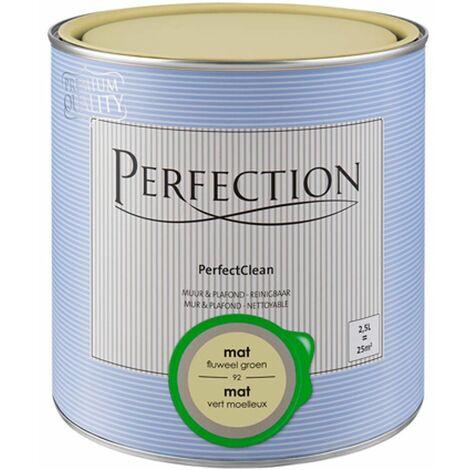 Pintura de pared y de techo lavable - Perfection \'PerfectClean\' - Mate - 98 Sorbete - 1L - 10m² - 98 Sorbet