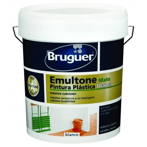 Pintura Emultone blanco mate 750 Ml