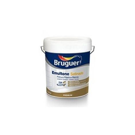 Pintura Emultone blanco satinado 750 ml Bruguer