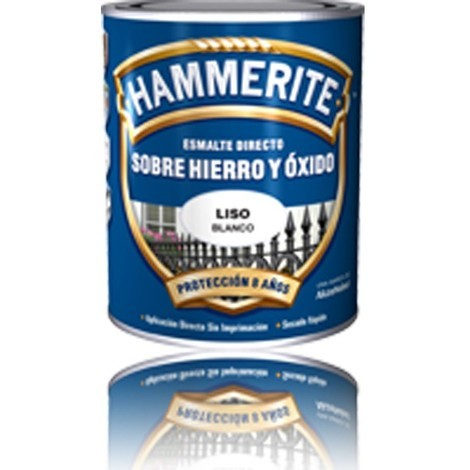 Pintura esmalte exterior negra Hammerite