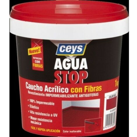 Pintura imperm. cau/acr 1 kg TERRACOTA fib antig aguastop el cey