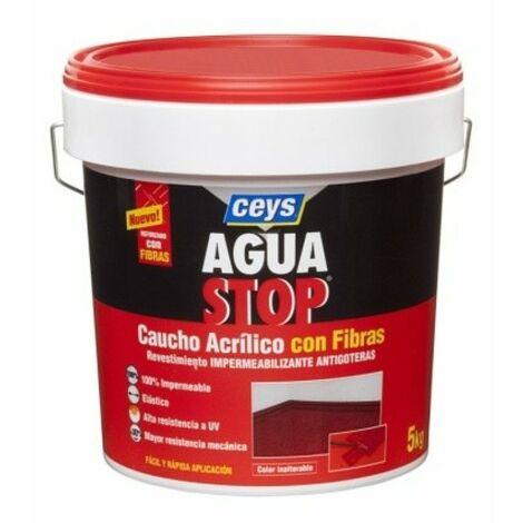 Pintura imperm. cau/acr 5 kg BLANCO fib antig aguastop el ceys