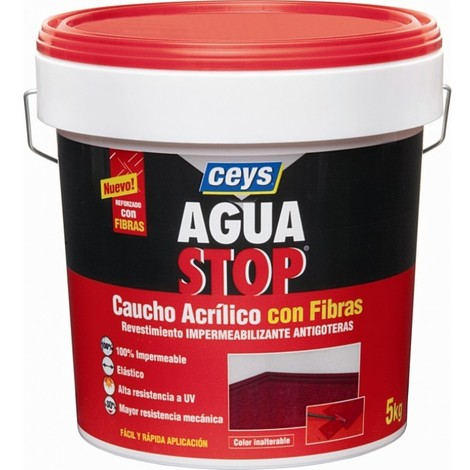 Pintura imperm. cau/acr 5 kg GRIS fib antig aguastop el ceys