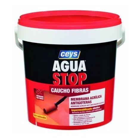 Pintura Impermeabilizante Caucho/Acrilico 5 Kg Rojo Fibra Aguastop