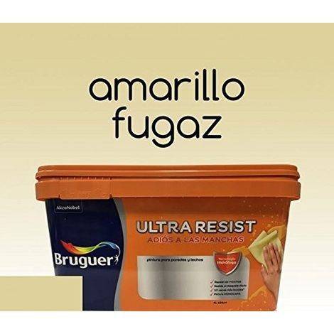Pintura interior Bruguer Ultra Resist Amarillo fugaz 4 Lt