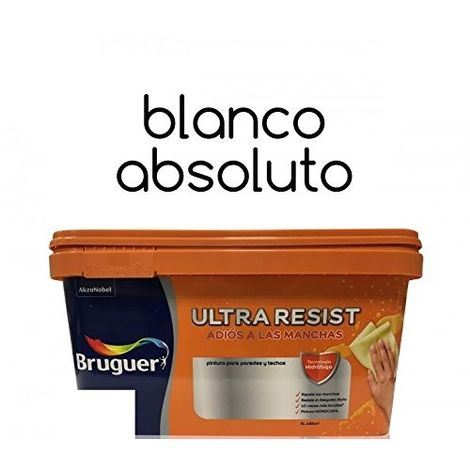 Pintura interior Bruguer Ultra Resist Blanco absoluto 4 Lt