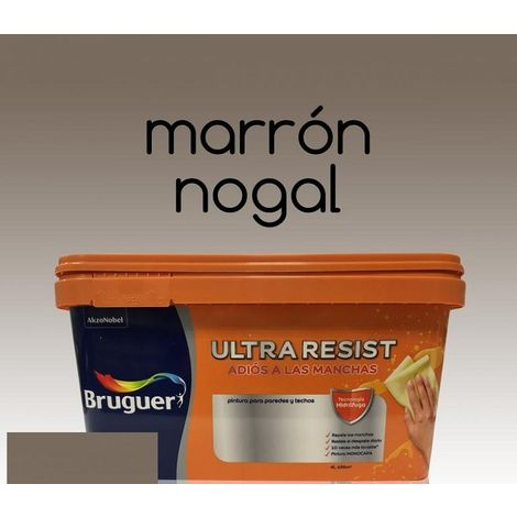 Pintura interior Bruguer Ultra Resist Marron nogal 4 Lt