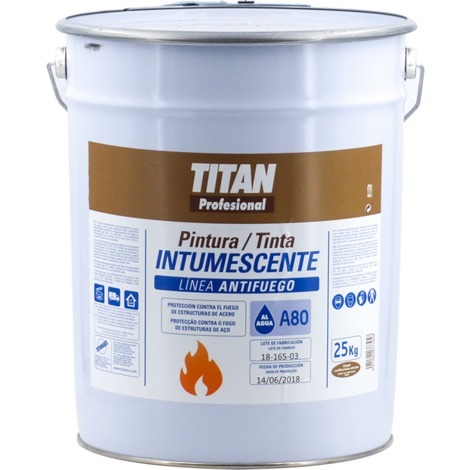 Pintura Intumescente al Agua Titan A80 25 KG