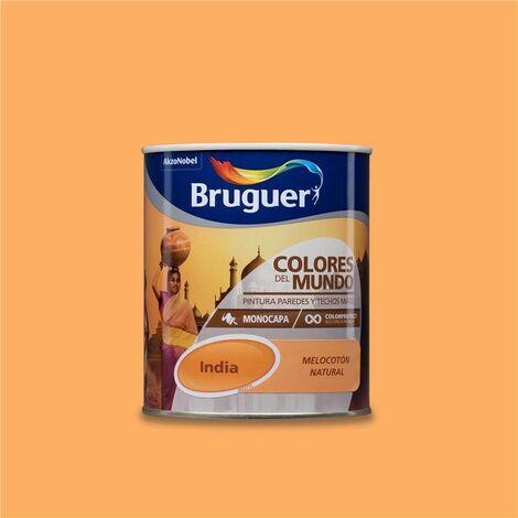 Pintura Monocapa Bruguer Colores del Mundo India Melocotón Natural 750ml