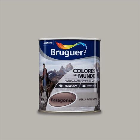 Pintura Monocapa Bruguer Colores del Mundo Patagonia Perla Intermedio 750ml