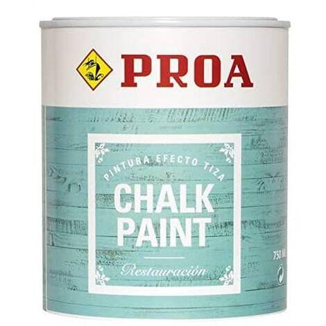 Pintura para mueble efecto tiza chalk paint Proa 750 ml Blanco