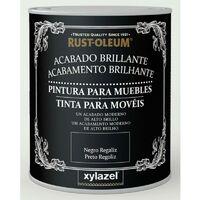 Pintura para muebles brillante Xylazel Blanco hielo 750 ml
