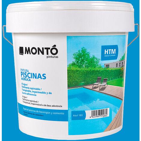 Pintura para piscinas azul HTM 4L Montó