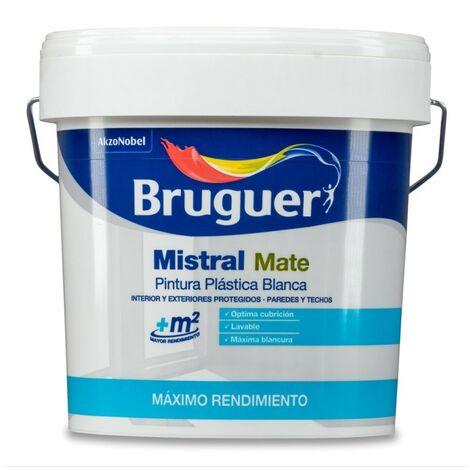 Pintura plast mate 15 lt bl int. mistral bruguer