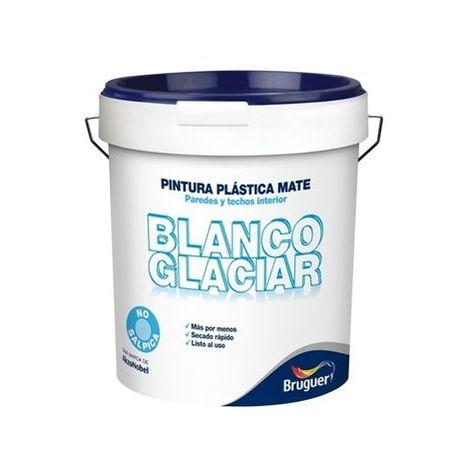 Pintura Plast Mate 4 Lt Bl Int. Glaciar Bruguer