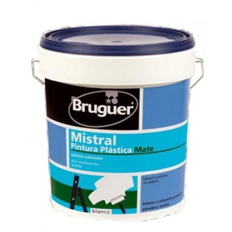 Pintura plast mate 4 lt bl int. mistral bruguer