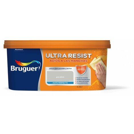 "main image of ""Pintura Plast Mate 4 Lt Gr Solido Int. Ultra Resist Bruguer"""