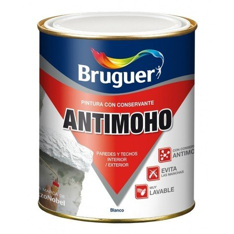 Pintura plast mate 750 ml bl antimoho bruguer