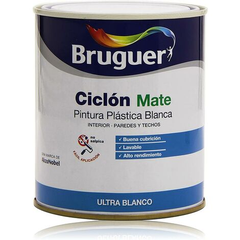 Pintura plast mate 750 ml bl int. ciclon bruguer