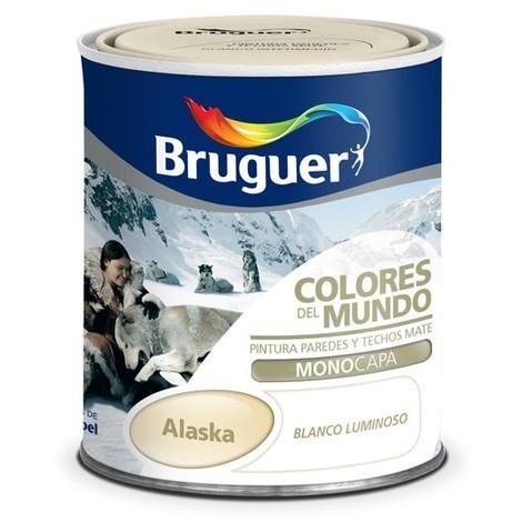 Pintura Plástica Alaska Blanco Calid 750 Ml - Colores del Mundo - 5246644