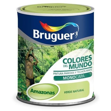 Pintura Plástica Amazonas Matiz Verde 750 Ml - Colores del Mundo - 5246635