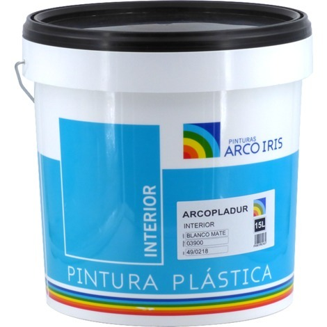 Pintura Plástica Arcopladur Blanco Mate Arcoiris 15L