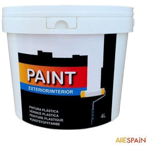 Pintura plástica blanca lavable para interior y exterior