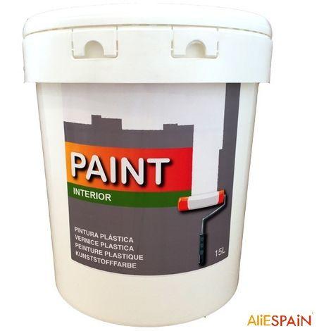 Pintura plástica blanca para interior de 15 litros