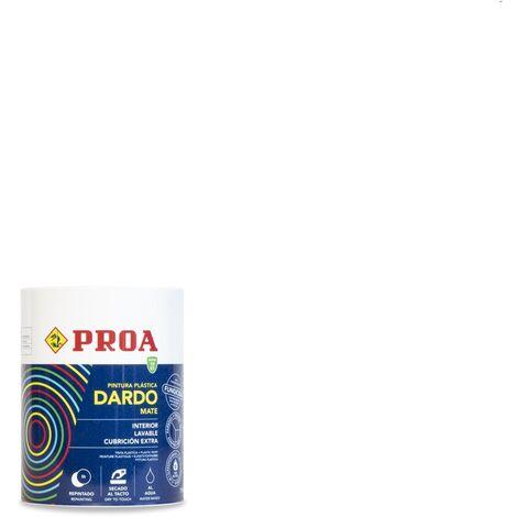 PINTURA PLASTICA DARDO BLANCO INTERIOR MATE 750ML, Blanco 0.75lts