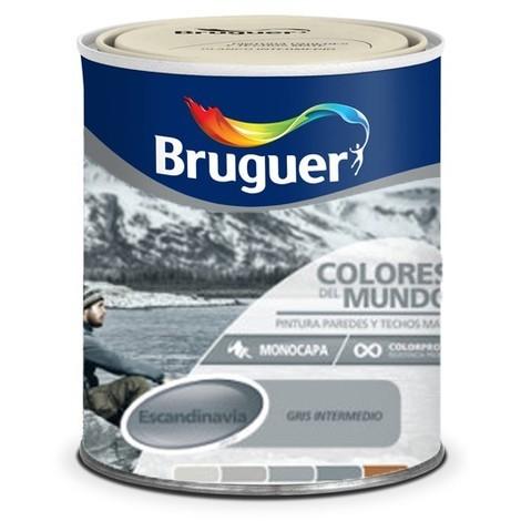 Pintura Plástica Escandinavia Gris Intermedio 750 Ml - Colores del Mundo - 5246659