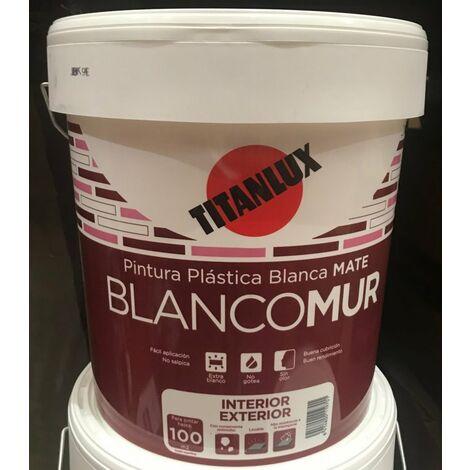 "main image of ""PINTURA PLASTICA EXTERIOR MATE BLANCOMUR 20 KG"""