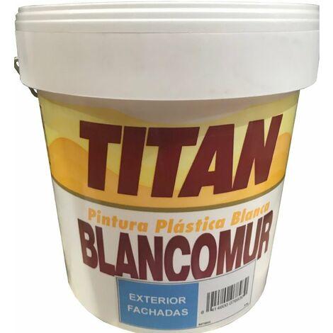 PINTURA PLASTICA EXTERIOR MATE BLANCOMUR 5 KG