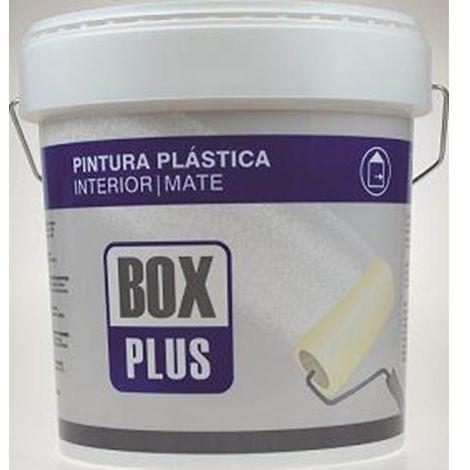 PINTURA PLASTICA INTERIOR BOX PLUS BLANCO MATE 12KG.