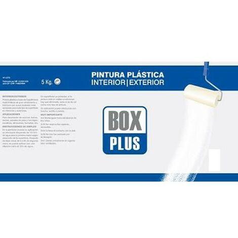 PINTURA PLASTICA INTERIOR EXTERIOR BOX PLUS BLANCO MATE 5KG