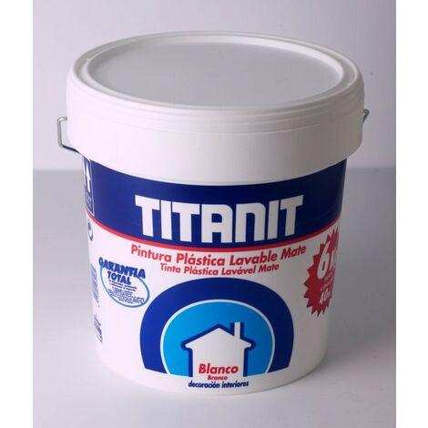 PINTURA PLASTICA INTERIOR TITANIT BLANCO MATE 4 L